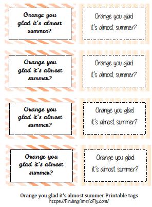 Orange DIY Gift Basket Printable Labels