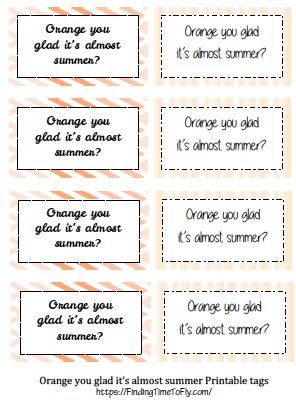Orange DIY Gift Basket Printable Labels