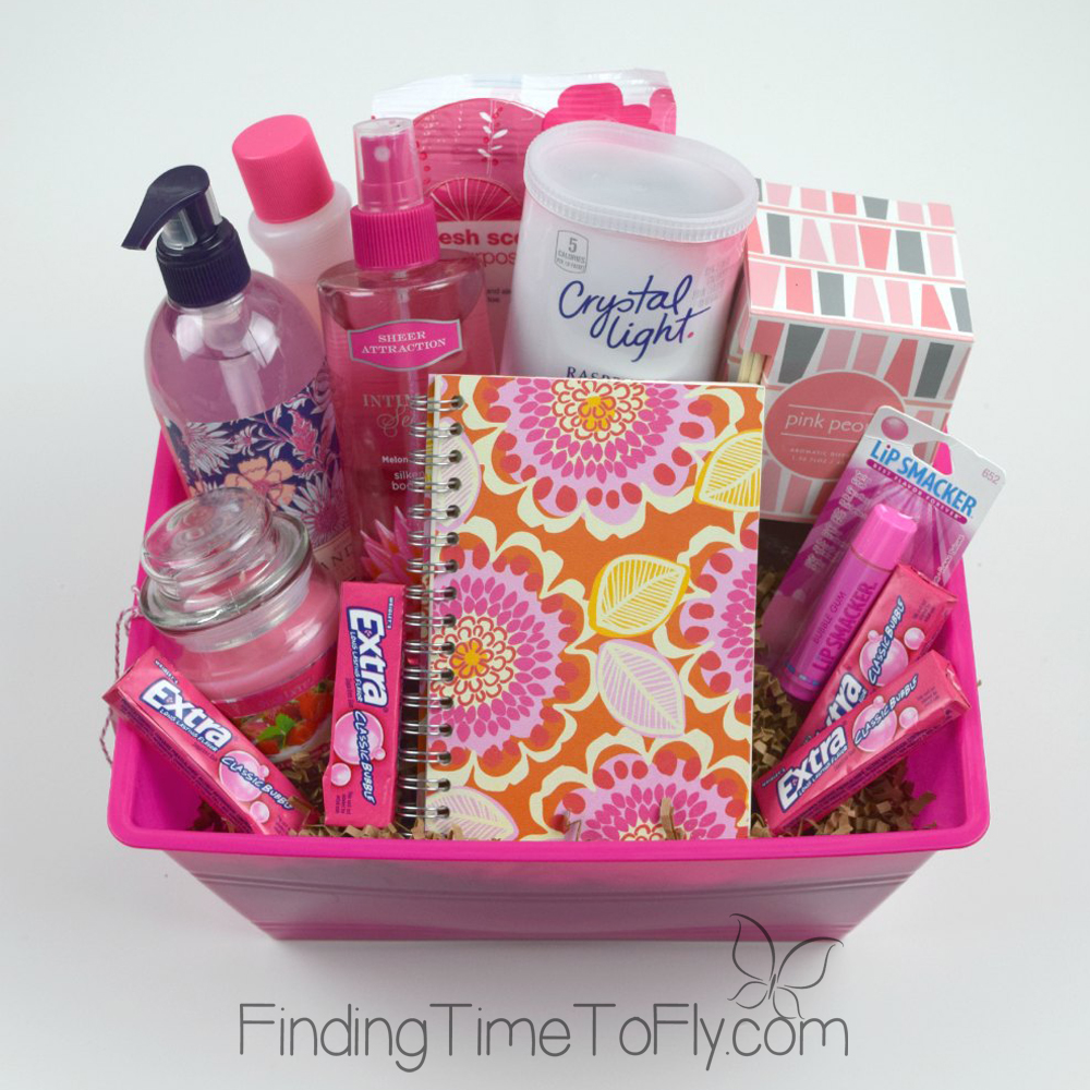 Pink themed basket-1