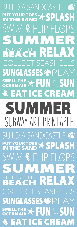 image regarding Subway Art Printable titled Summer season Subway Artwork Printable - Obtaining Season Toward Fly