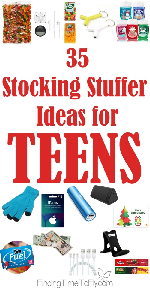 """This Christmas, I (er Santa) will be stuffing the stockings of two teens and one pre-teen. So, I turned to my boys for some of the best stocking stuffer ideas for teens and got nothing!. When I asked my oldest son for stocking stuffer ideas, his response was """"MONEY""""!"""