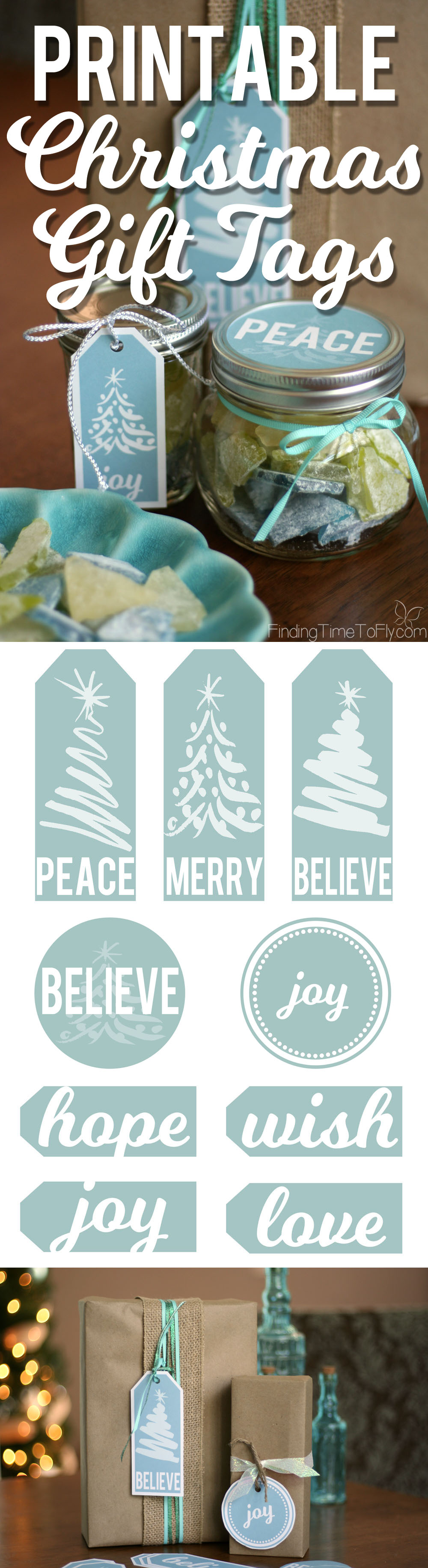 free printable christmas gift tags in blue finding time to fly