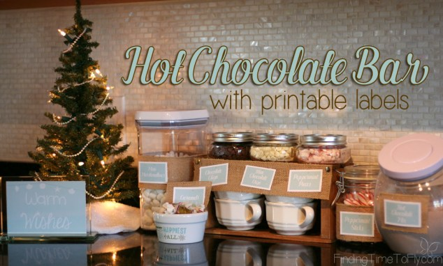 Hot Chocolate Bar with Labels