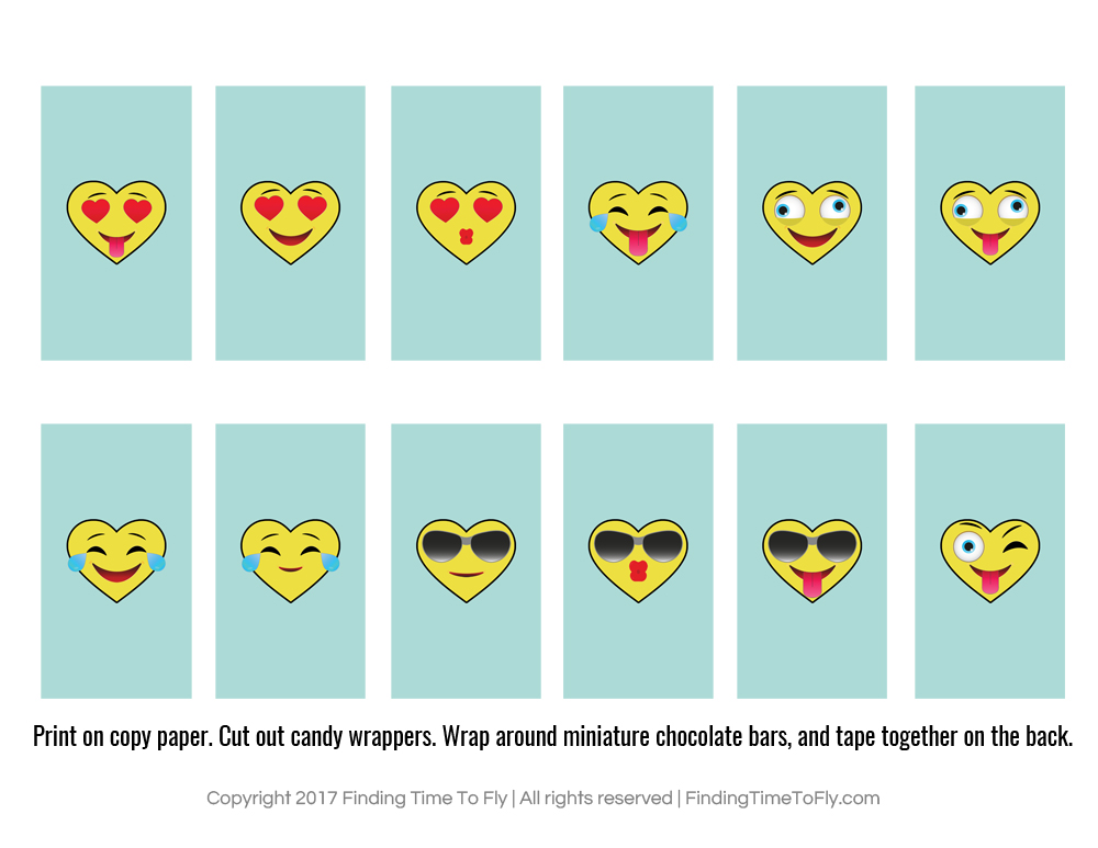 Printable Emoji Valentines - Finding Time To Fly