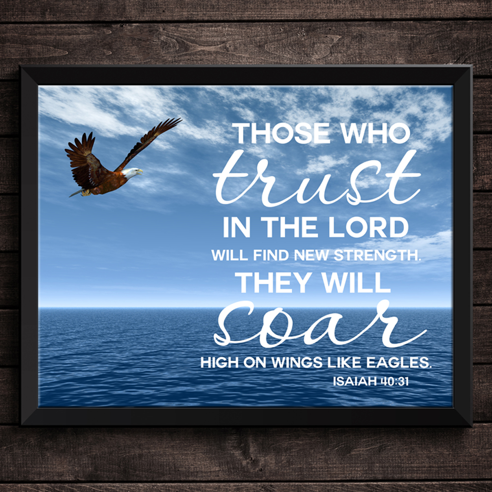 This is one of my favorite verses. Printable Bible verse Trust in the Lord from Isaiah 40:31.
