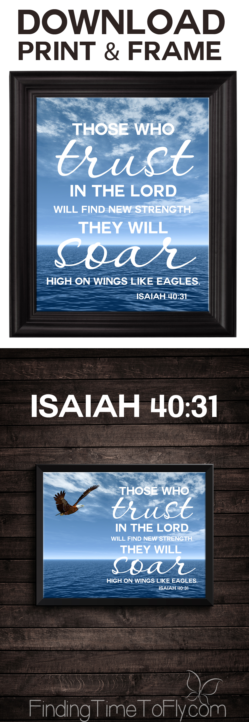 I need this reminder sometimes! Printable Bible Verse Trust in the Lord from Isaiah 40:31.