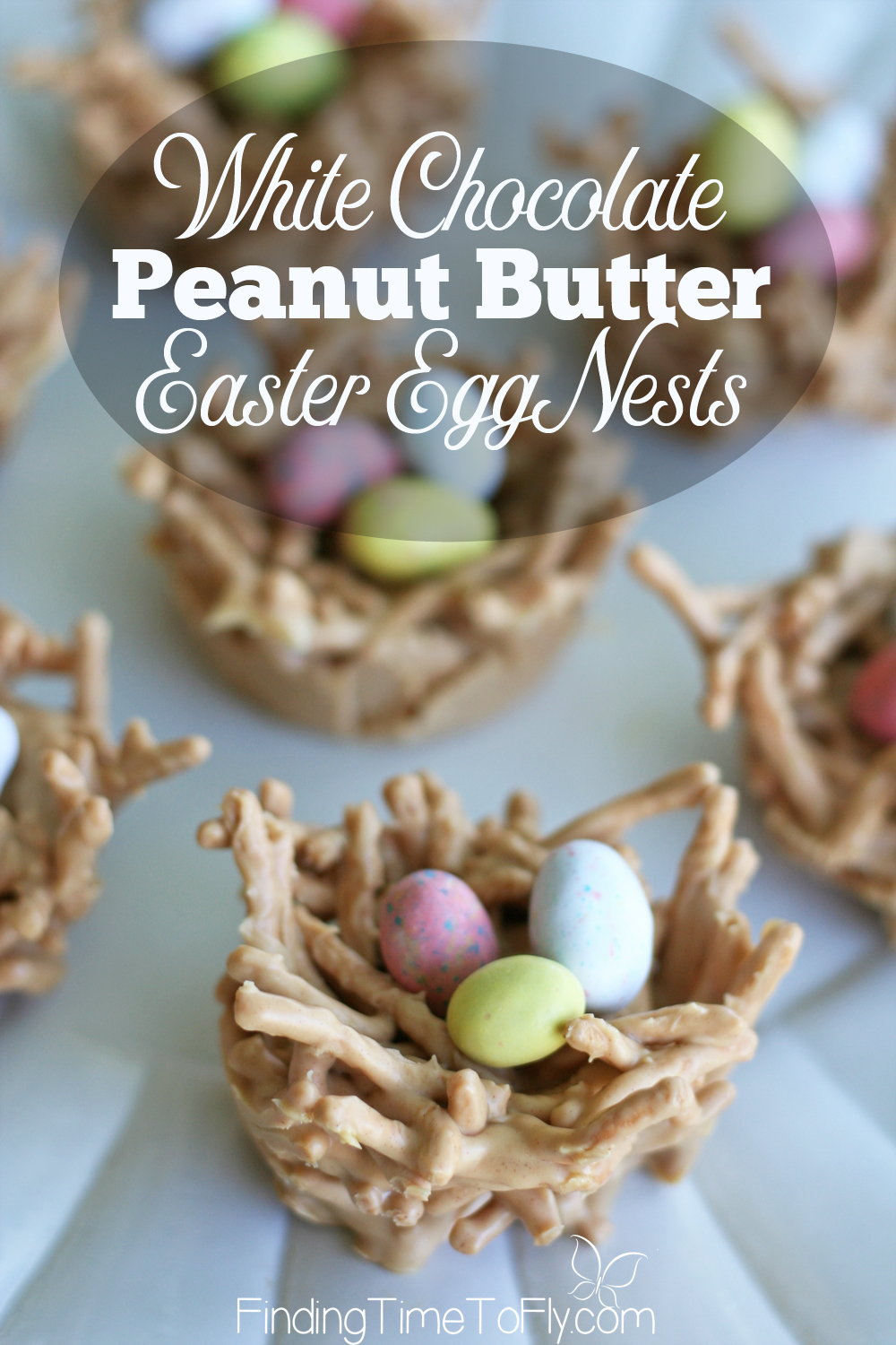 What a great treat to make for Easter! Butterscotch haystacks are amazing. I bet chocolate peanut butter haystacks are great, too. Love the idea of making them into Easter egg nests!