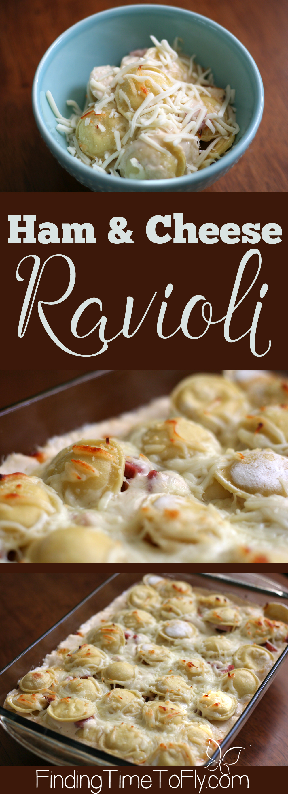 What a great recipe for leftover ham! Ham and Cheese Ravioli is a super easy weeknight dinner the whole family will love!