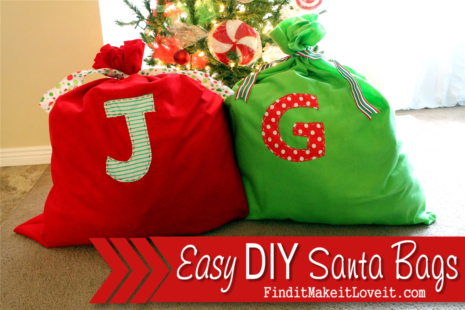 Easy Diy Santa Bag