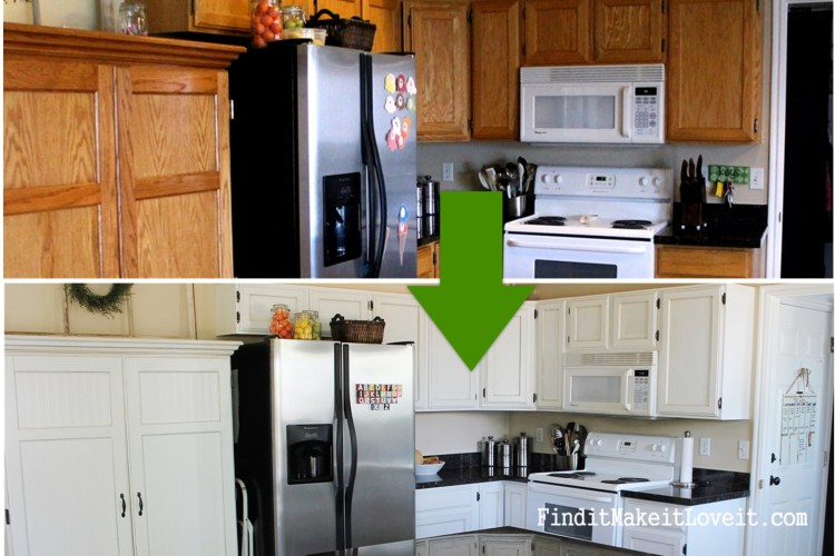 Painted kitchen cabinets DIY (2)