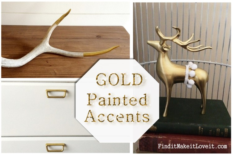 Gold painted