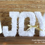 JOY Letters and Yarn Tree