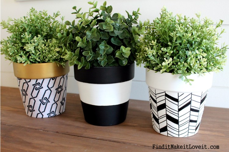 Upcycled Dollar Store Pots (8)