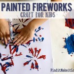 Painted Fireworks Craft for Kids