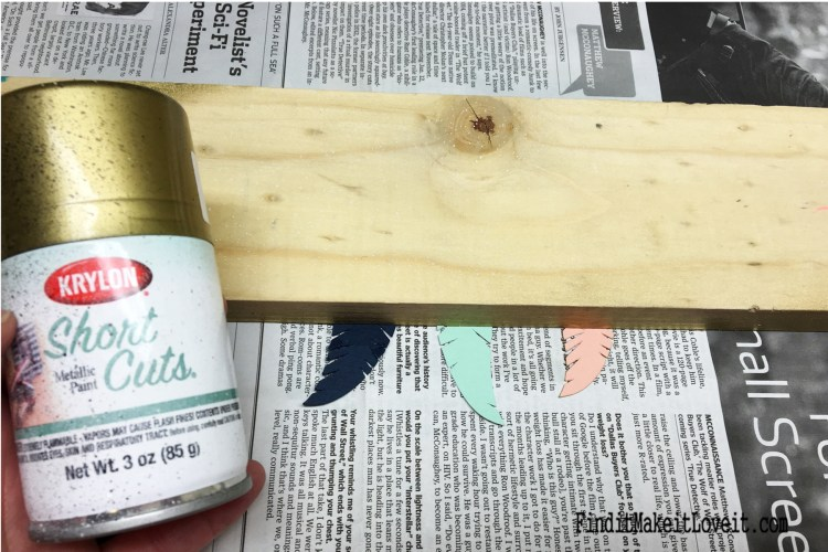 An easy way to paint gold tips on paper feathers