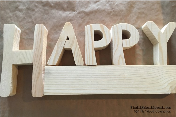 Original wood from the Wood connection that can be used to say Happy....anything!