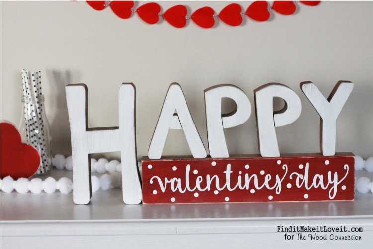 Happy Valentines Day sign that is reversible and says happy birthday. A perfect way to make the most of craft project.