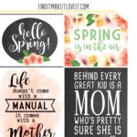 Mother's Day & Spring Printables