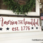America the Beautiful Sign