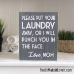 Funny Laundry Sign