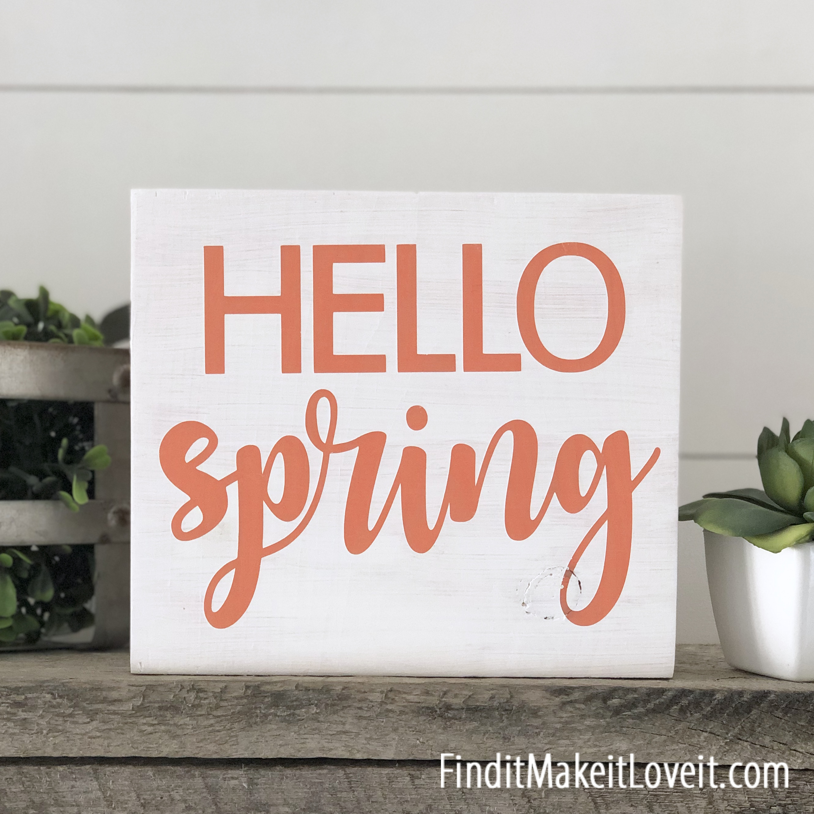 Hello Spring craft