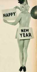 Thelma White (1910-2005) wishes the readers of 'Hollywood' magazine a scantily clad Happy New Year, January 1934