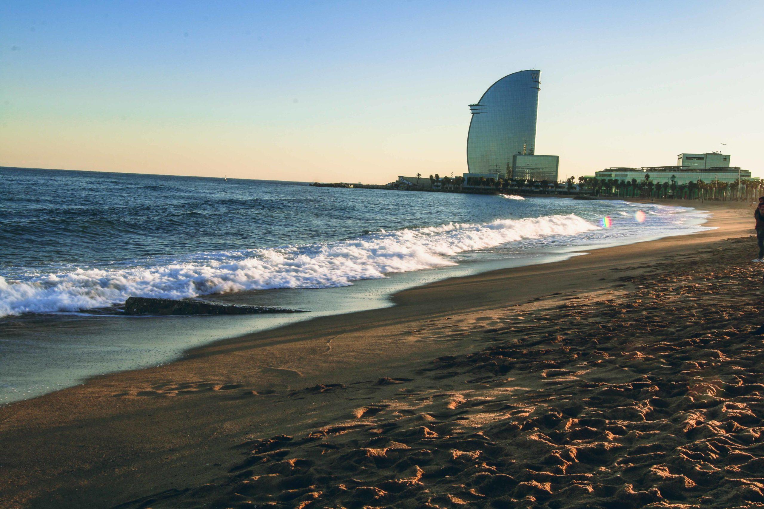 barceloneta beach, barcelona, spain
