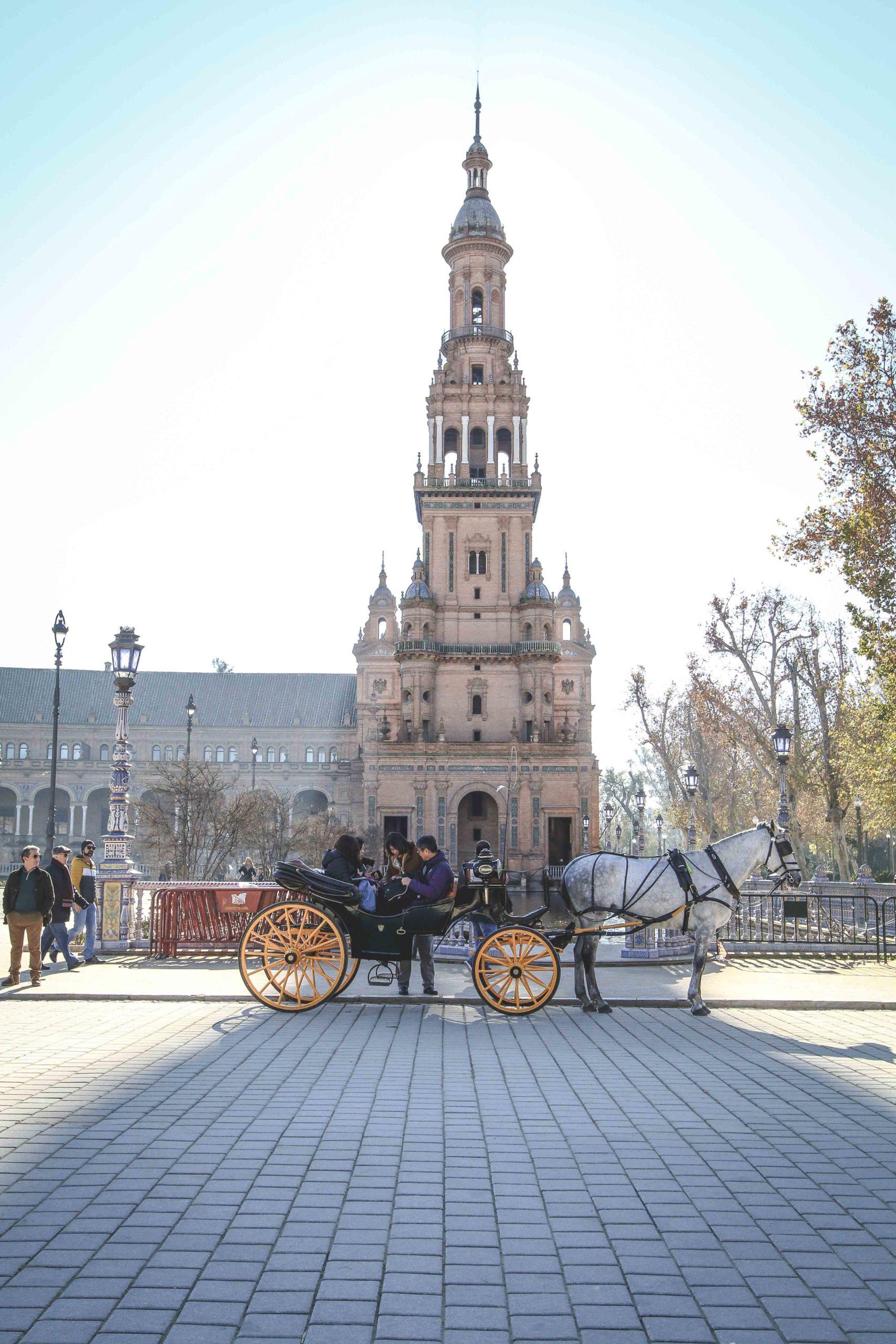 plaza d'espana, sevilla, spain