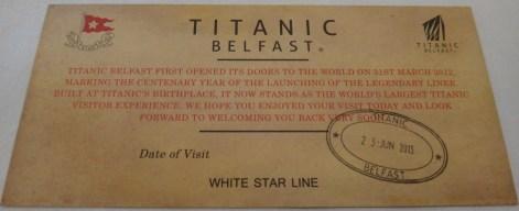 Titanic Belfast Ticket