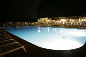 Hoburne Cotswold Outdoor Pool at Night - Hoburne Cotswold Holiday Park