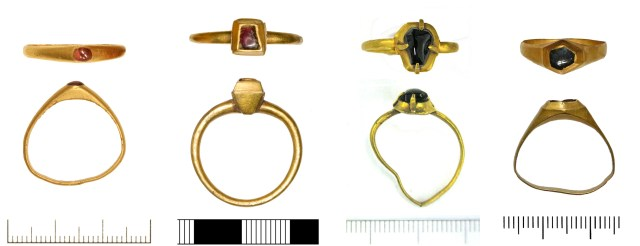 Medieval rings CAM-71FF34, SOM-138A64, LVPL-967BA5 and LVPL-BDC0C3