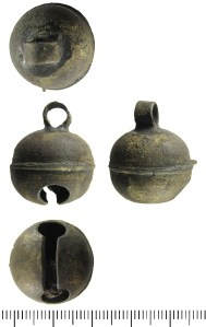 Sheet copper-alloy bell, probably of late medieval or early post-medieval date (ESS-316509)