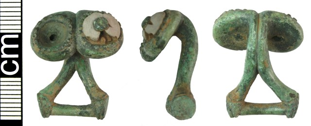 Iron Age to Roman button-and-loop fastener of Wild Class I (HAMP-8E0771)