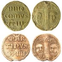 Papal bullae of Innocent IV (SF-75C3F8) and Martin IV (BERK-47DE41)
