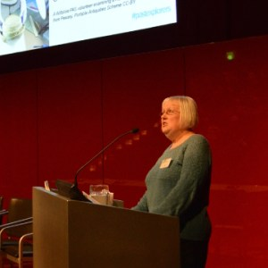 Margaret (volunteer) speaking at PASt Explorers conference