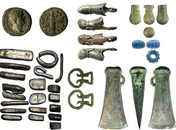 Image of a 7 archaeological finds from Cumbria
