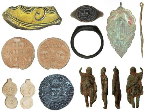 Image of 7 archaeological finds from Devon.