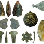Image of 7 archaeological finds found in Hampshire.