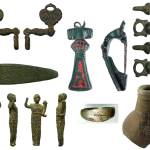 Image of seven archaeological finds found in Hertfordshire.