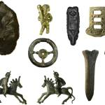 Image of seven archaeological finds found in Suffolk.