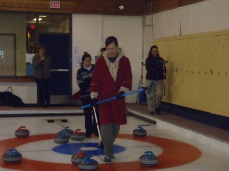 Curling in Jasper