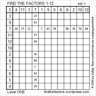 2014-26 Level 1 Factors