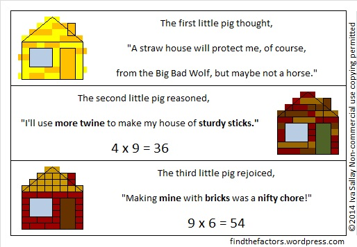 Little Pigs Multiplication Rhymes