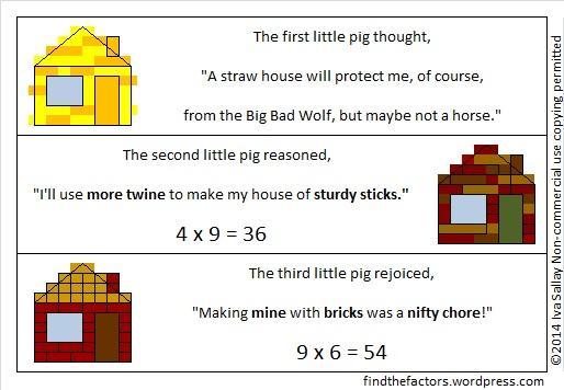 Little Pigs Multiplication Rhymes