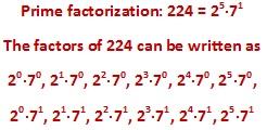 factors of 224