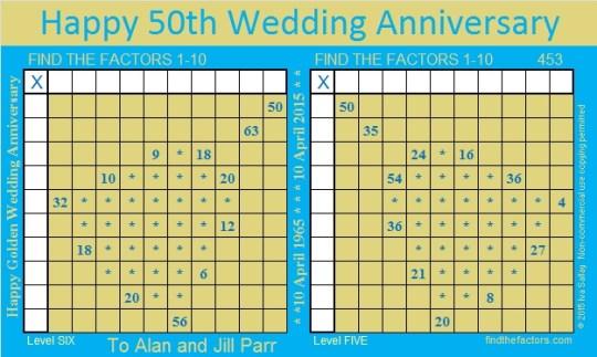 Golden Wedding Anniversary Puzzle