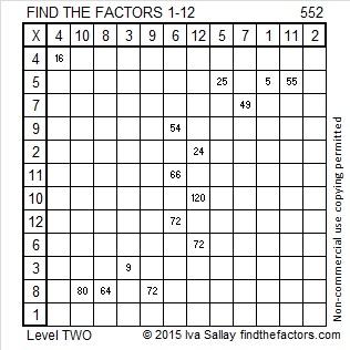 552 Factors