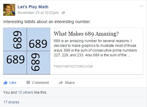 689 Let's Play Math