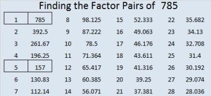 785-factor-pairs
