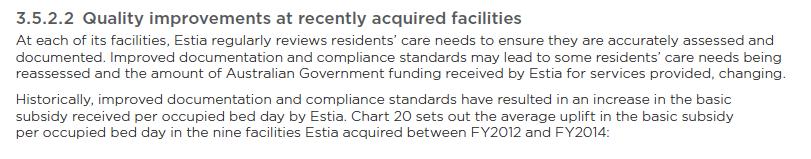 ACFI increases at Estia